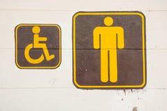 Mens en het Ongeldige teken van het mensentoilet Royalty-vrije Stock Afbeeldingen
