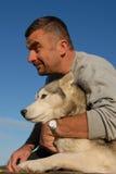 Mens en hond royalty-vrije stock foto's