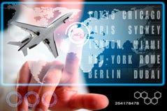 Mens en lijnvliegtuig Royalty-vrije Stock Afbeeldingen