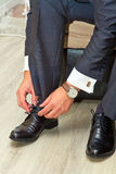Mens en schoenen royalty-vrije stock foto