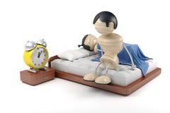 Mens en slapeloosheid Royalty-vrije Stock Foto's