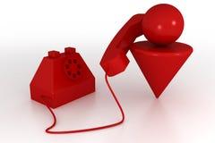 Mens en telefoon Royalty-vrije Illustratie