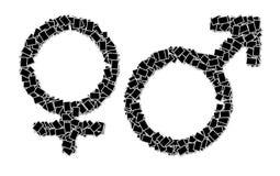 Mens en vrouwelijk symbool Stock Foto's