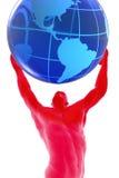Mens en wereld Royalty-vrije Stock Afbeelding