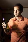 Mens en Wijn. Royalty-vrije Stock Foto's