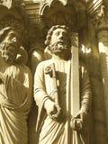 Mens en zeer belangrijk beeldhouwwerk Royalty-vrije Stock Foto