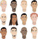 Mens Faces 3 Stock Image
