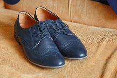 Shoes. Mens fashion shoes. Shallow dept of field Royalty Free Stock Photo