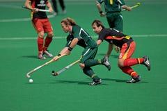 Mens field hockey action royalty free stock image