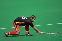 Mens field hockey action Stock Image