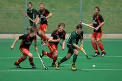 Mens field hockey action Royalty Free Stock Image