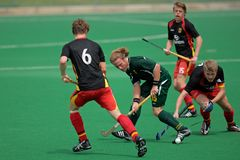 Mens field hockey action Royalty Free Stock Photography