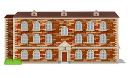 English country house. Old English country house of red brick in Victorian style stock illustration