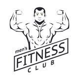 Mens fitness logo Stock Photo
