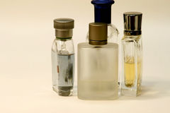 Mens Fragrances II. Mens Fragrances and perfumes bottle in white background Stock Image