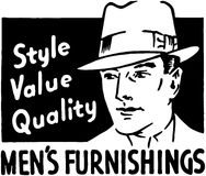 Mens Furnishings Stock Photo