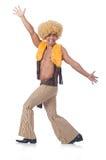 Mens geïsoleerd dansen Royalty-vrije Stock Afbeelding