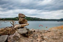 Mens gemaakte meren royalty-vrije stock afbeelding