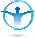Mens, geschiktheid, gezondheid vector illustratie