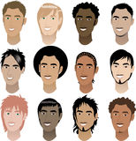 Mens-Gesichter 4 Stockfoto