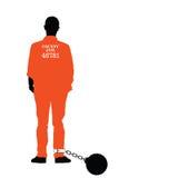 Mens in gevangenisvector in kleurrijk Royalty-vrije Stock Afbeeldingen