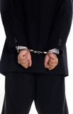 Mens in handcuffs Royalty-vrije Stock Foto