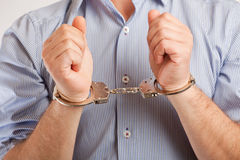 Mens in handcuffs Stock Fotografie