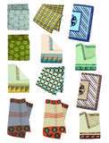 Mens handkerchiefs. Set of male handkerchiefs isolated on white background Royalty Free Stock Photography