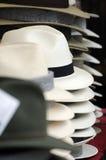 Mens hats. Photo of piles of Mens hats Royalty Free Stock Image