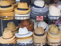 Mens hats for Sale, Italy Stock Image