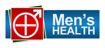 Mens Health Red Green Blue Banner Royalty Free Stock Images