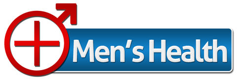 Mens Health With Related Symbol Stock Photo