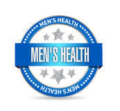 Mens health seal illustration design. Over a white background Royalty Free Stock Photography