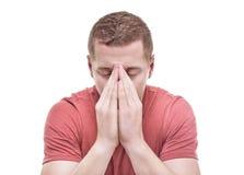 Mens het bidden stock fotografie