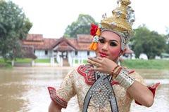 Mens het dragen van Dramatische Kunsten Thailand Royalty-vrije Stock Afbeeldingen