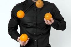 Mens het jongleren met Royalty-vrije Stock Afbeeldingen