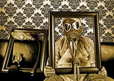Mens in het masker Stock Afbeelding
