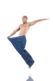 Mens in het op dieet zijn concept Stock Foto's