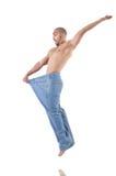 Mens in het op dieet zijn concept Royalty-vrije Stock Foto