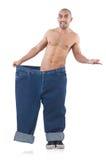 Mens in het op dieet zijn concept Royalty-vrije Stock Fotografie