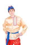 Mens in het Russische nationale kostuum Stock Afbeelding