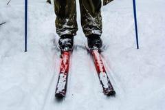 Mens het ski?en stock fotografie