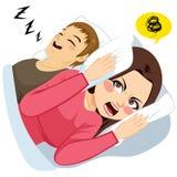 Mens het Snurken Lawaai royalty-vrije illustratie