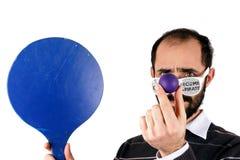 Mens het spelen rackets stock fotografie