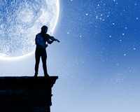 Mens het spelen viool Stock Afbeelding