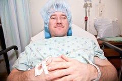 Mens in het Ziekenhuis Royalty-vrije Stock Afbeeldingen