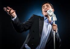 Mens het zingen Royalty-vrije Stock Fotografie