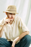 Mens in hoed royalty-vrije stock fotografie
