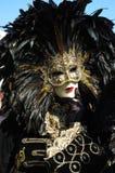 Mens in kostuum in Carnaval van Venetië 2011 Royalty-vrije Stock Afbeeldingen