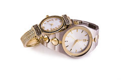 Mens and Ladies Wristwatches royalty free stock images